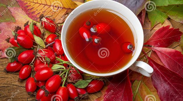 rosehip-tea-autumnal-leaves-34002637